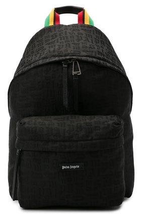 Мужской текстильный рюкзак PALM ANGELS черного цвета, арт. PMNB012S21FAB0051010 | Фото 1