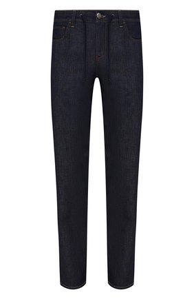 Мужские джинсы CORNELIANI темно-синего цвета, арт. 874JK9-1120144/00 | Фото 1 (Длина (брюки, джинсы): Стандартные; Материал внешний: Хлопок, Лен; Кросс-КТ: Деним; Силуэт М (брюки): Прямые; Стили: Кэжуэл)