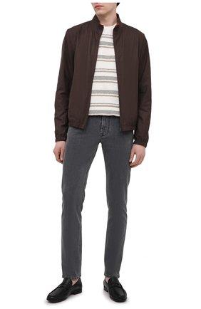 Мужские джинсы CORNELIANI серого цвета, арт. 874JK2-1120143/00   Фото 2