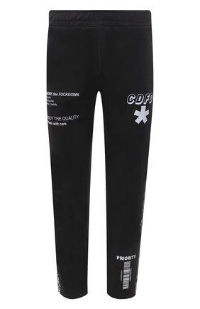 Мужские брюки COMME DES FUCKDOWN черного цвета, арт. CDFU1163 | Фото 1