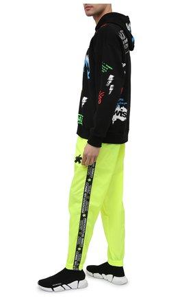 Мужские джоггеры COMME DES FUCKDOWN светло-зеленого цвета, арт. CDFU1169 | Фото 2