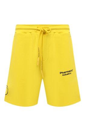 Мужские хлопковые шорты PHARMACY INDUSTRY желтого цвета, арт. PHM203 | Фото 1