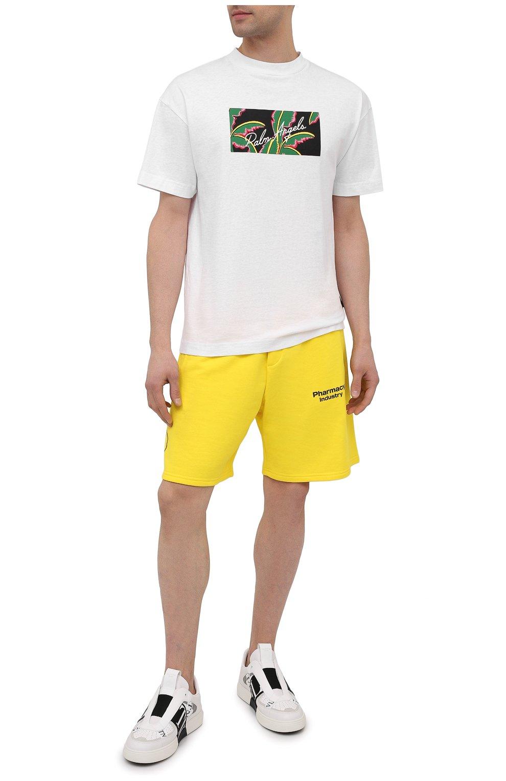 Мужские хлопковые шорты PHARMACY INDUSTRY желтого цвета, арт. PHM203 | Фото 2