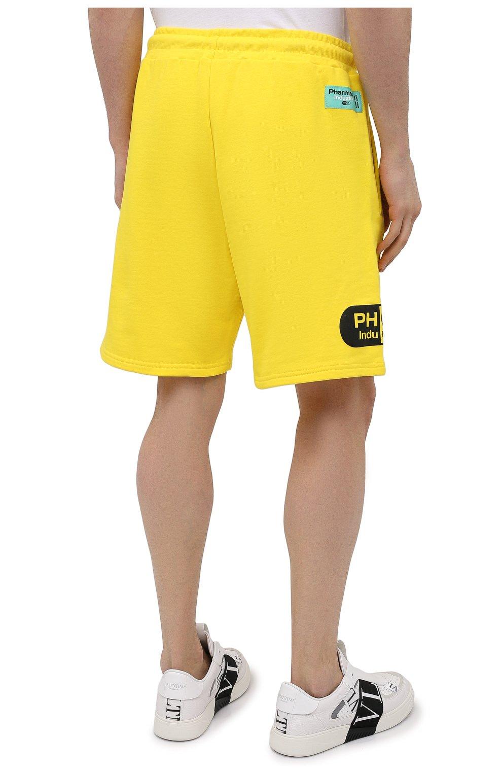 Мужские хлопковые шорты PHARMACY INDUSTRY желтого цвета, арт. PHM203 | Фото 4
