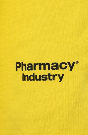 Мужские хлопковые шорты PHARMACY INDUSTRY желтого цвета, арт. PHM203 | Фото 5