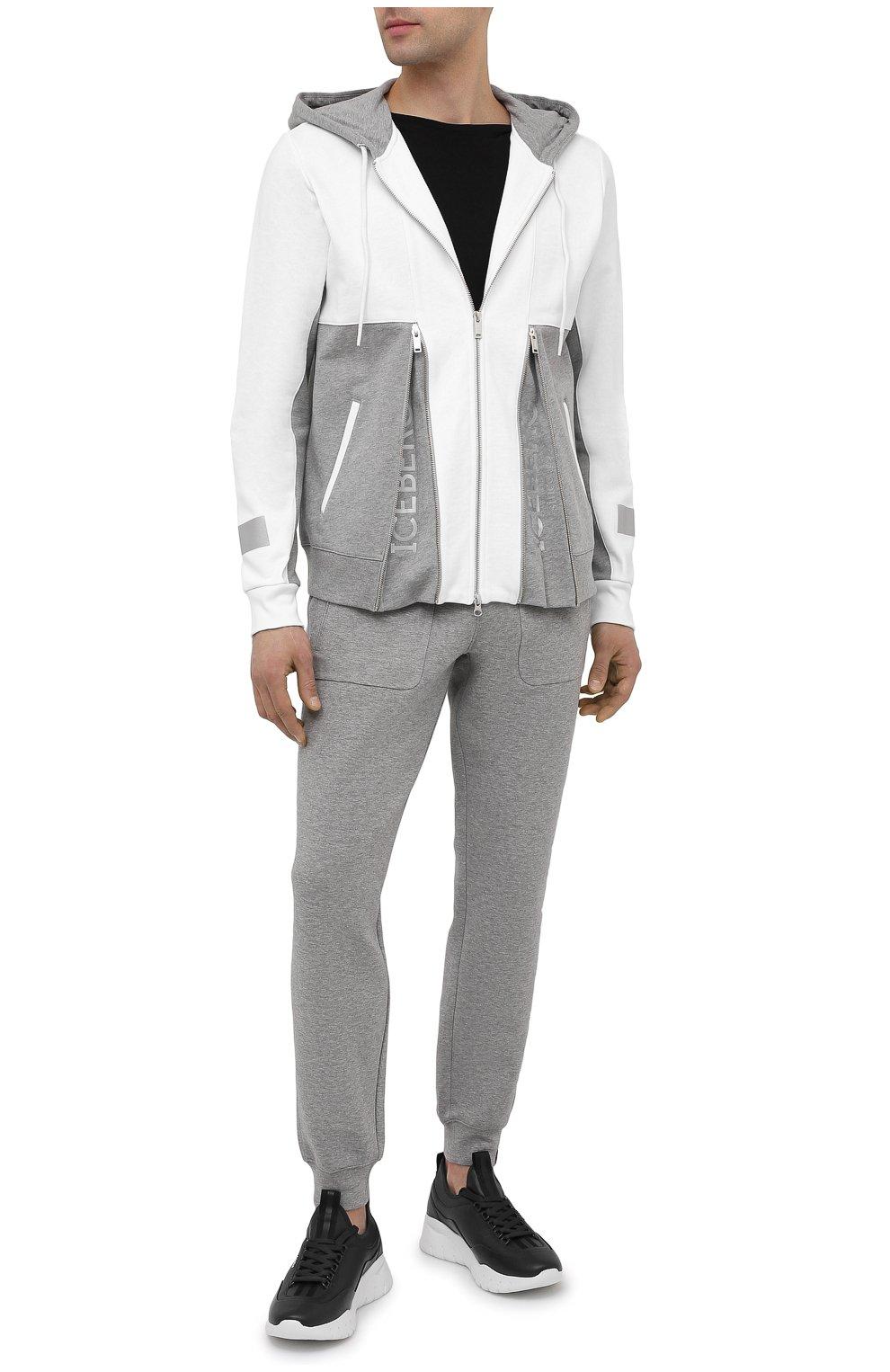 Мужские хлопковые джоггеры ASPESI серого цвета, арт. S1 A AY65 L565 | Фото 2 (Мужское Кросс-КТ: Брюки-трикотаж; Длина (брюки, джинсы): Стандартные; Кросс-КТ: Спорт; Материал внешний: Хлопок; Стили: Спорт-шик; Силуэт М (брюки): Джоггеры)