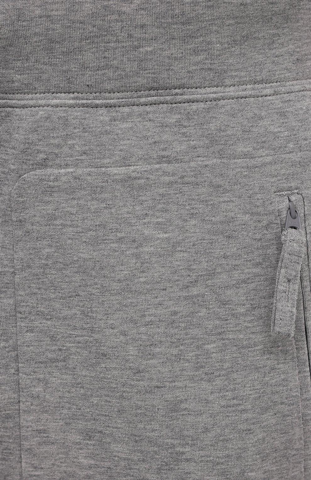 Мужские хлопковые джоггеры ASPESI серого цвета, арт. S1 A AY65 L565 | Фото 5 (Мужское Кросс-КТ: Брюки-трикотаж; Длина (брюки, джинсы): Стандартные; Кросс-КТ: Спорт; Материал внешний: Хлопок; Стили: Спорт-шик; Силуэт М (брюки): Джоггеры)