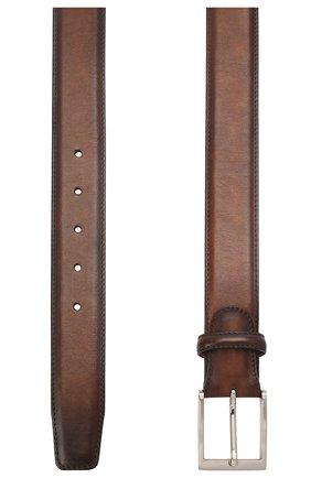 Мужской кожаный ремень MAGNANNI коричневого цвета, арт. 1078/WIND | Фото 2