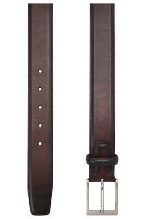 Мужской кожаный ремень MAGNANNI бордового цвета, арт. 1078/WIND | Фото 2
