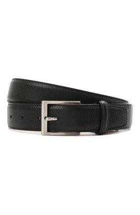 Мужской кожаный ремень MAGNANNI черного цвета, арт. 1078/RUG0 | Фото 1