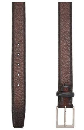 Мужской кожаный ремень MAGNANNI темно-коричневого цвета, арт. 1078/RUG0 | Фото 2
