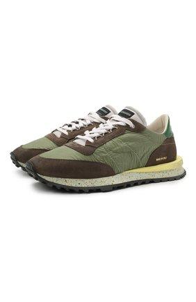 Мужские комбинированные кроссовки HIDNANDER зеленого цвета, арт. HC1MS400 430   Фото 1