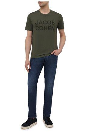 Мужские джинсы JACOB COHEN синего цвета, арт. J688 C0MF 01969-W2/55 | Фото 2