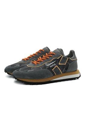 Мужские комбинированные кроссовки GHOUD темно-серого цвета, арт. E11ERSLMCL07 | Фото 1