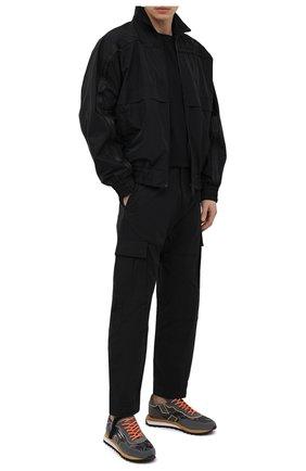 Мужские комбинированные кроссовки GHOUD темно-серого цвета, арт. E11ERSLMCL07 | Фото 2
