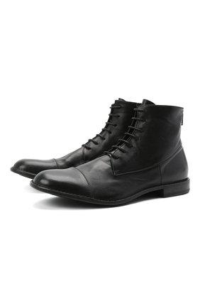 Мужские кожаные ботинки PANTANETTI черного цвета, арт. 14403E/GUELF0   Фото 1