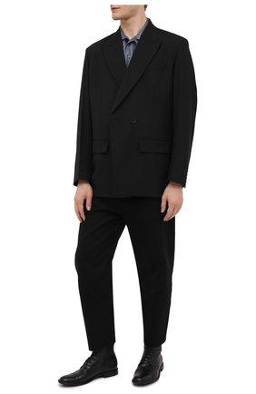 Мужские кожаные ботинки PANTANETTI черного цвета, арт. 14403E/GUELF0   Фото 2