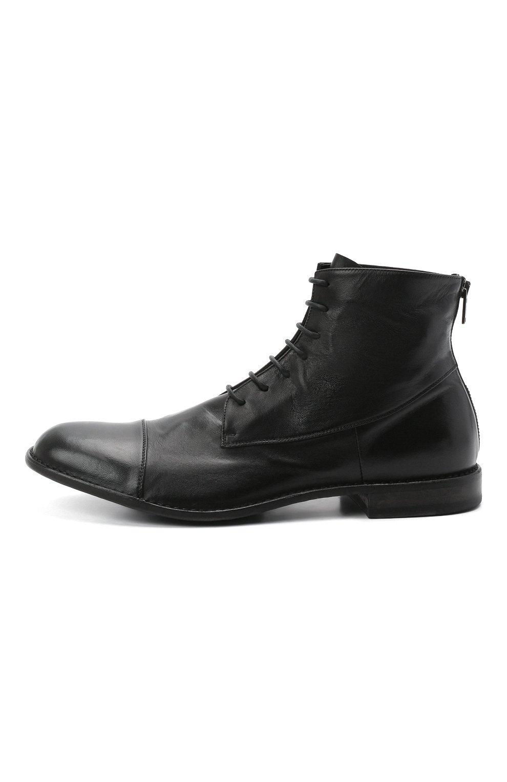 Мужские кожаные ботинки PANTANETTI черного цвета, арт. 14403E/GUELF0   Фото 3 (Мужское Кросс-КТ: Ботинки-обувь; Материал внутренний: Натуральная кожа; Подошва: Плоская)