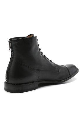 Мужские кожаные ботинки PANTANETTI черного цвета, арт. 14403E/GUELF0   Фото 4 (Мужское Кросс-КТ: Ботинки-обувь; Материал внутренний: Натуральная кожа; Подошва: Плоская)