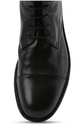 Мужские кожаные ботинки PANTANETTI черного цвета, арт. 14403E/GUELF0   Фото 5 (Мужское Кросс-КТ: Ботинки-обувь; Материал внутренний: Натуральная кожа; Подошва: Плоская)