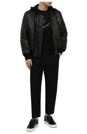 Мужские кожаные кеды frankie GIUSEPPE ZANOTTI DESIGN черного цвета, арт. RU00010/040 | Фото 2