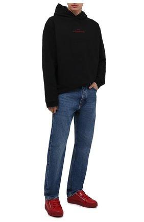 Мужские кожаные кеды frankie GIUSEPPE ZANOTTI DESIGN красного цвета, арт. RU00010/006 | Фото 2