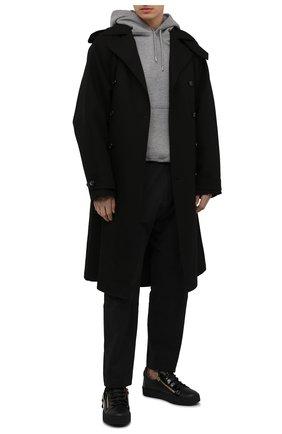 Мужские кожаные кеды frankie GIUSEPPE ZANOTTI DESIGN черного цвета, арт. RU00010/003 | Фото 2
