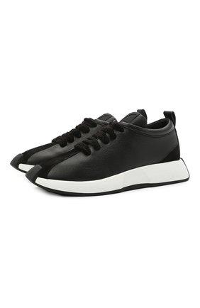 Мужские кожаные кроссовки ferox GIUSEPPE ZANOTTI DESIGN черного цвета, арт. RM10014/003 | Фото 1