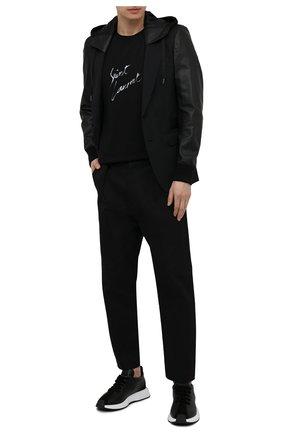 Мужские кожаные кроссовки ferox GIUSEPPE ZANOTTI DESIGN черного цвета, арт. RM10014/003 | Фото 2