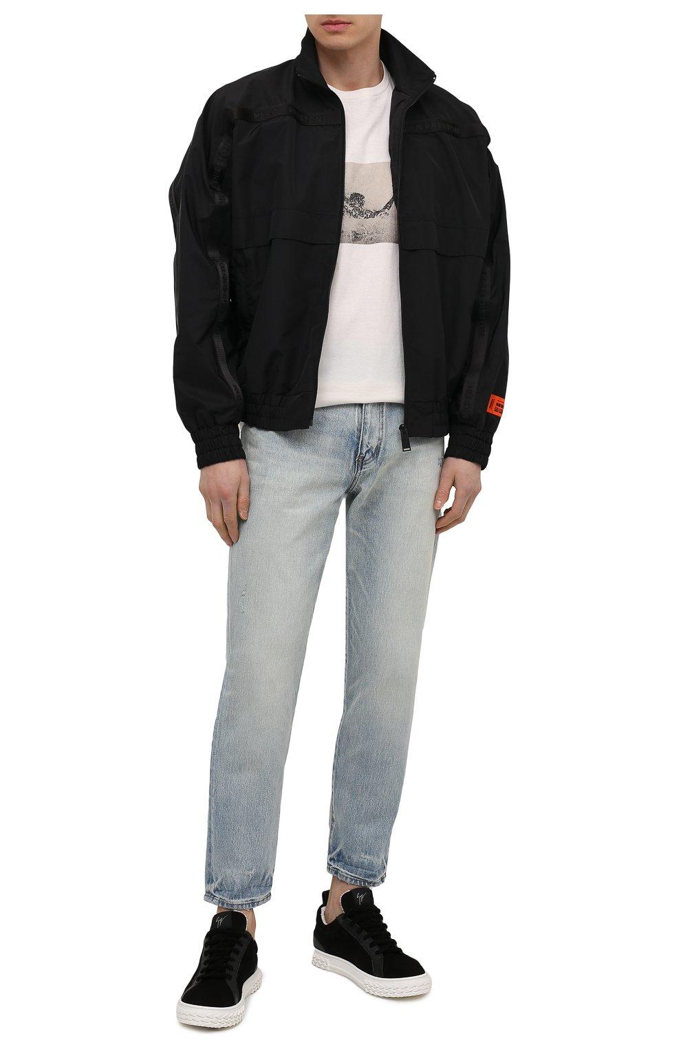 Мужские замшевые кеды blabber GIUSEPPE ZANOTTI DESIGN черного цвета, арт. RM10011/001   Фото 2 (Материал внутренний: Натуральная кожа, Текстиль; Подошва: Массивная; Материал внешний: Замша)