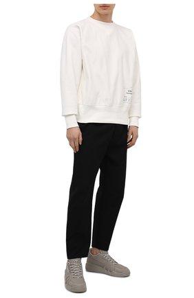 Мужские кожаные кеды talon GIUSEPPE ZANOTTI DESIGN серого цвета, арт. RM10005/006 | Фото 2
