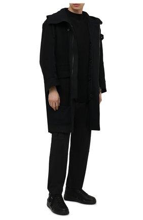 Мужские кожаные кеды talon GIUSEPPE ZANOTTI DESIGN черного цвета, арт. RM10005/004 | Фото 2