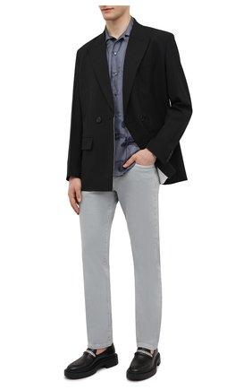 Мужские кожаные лоферы achille chain GIUSEPPE ZANOTTI DESIGN черного цвета, арт. EU10025/001 | Фото 2 (Материал внутренний: Натуральная кожа; Стили: Кэжуэл)