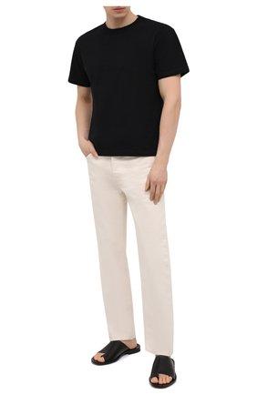 Мужские кожаные шлепанцы ROCCO P. черного цвета, арт. 12022/DALLAS   Фото 2