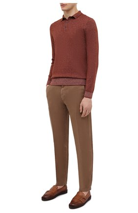 Мужские кожаные эспадрильи SANTONI темно-коричневого цвета, арт. MGPG17526JQ8SGTHS49 | Фото 2 (Материал внутренний: Натуральная кожа)