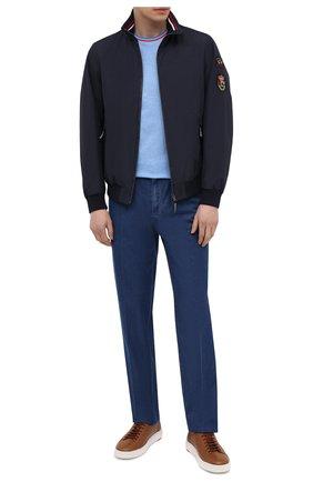 Мужские кожаные кеды SANTONI светло-коричневого цвета, арт. MBCD21490BARETWHC50 | Фото 2 (Материал внутренний: Натуральная кожа; Подошва: Массивная)