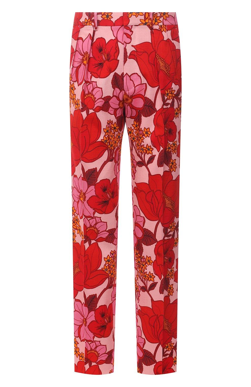Мужские брюки из вискозы TOM FORD красного цвета, арт. 942R55/759F42 | Фото 1