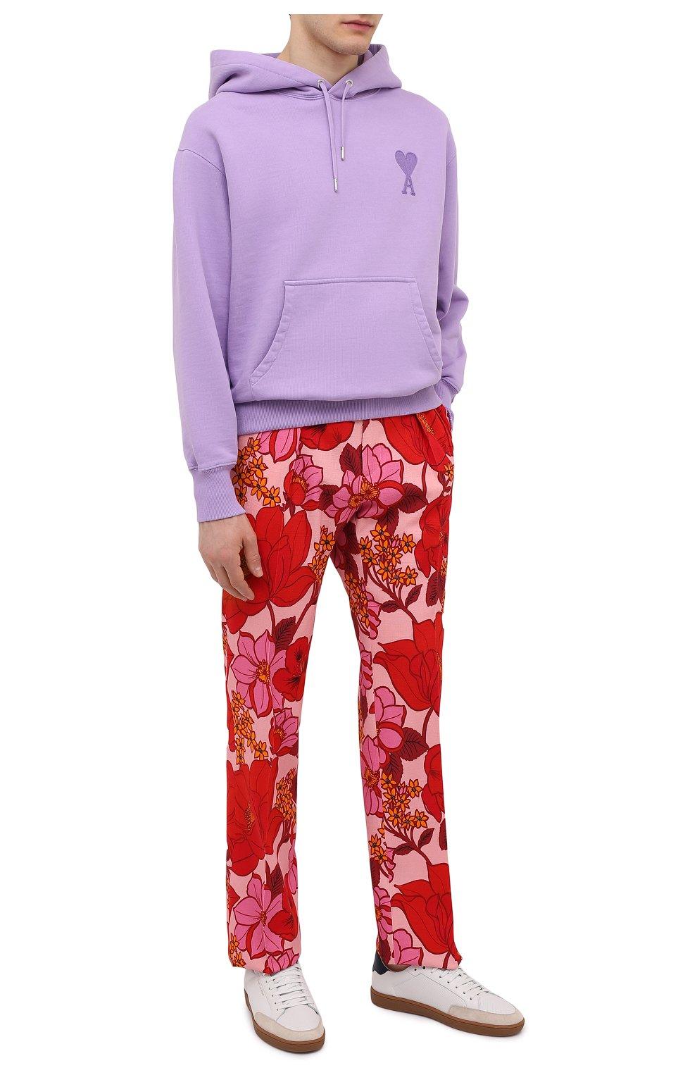 Мужские брюки из вискозы TOM FORD красного цвета, арт. 942R55/759F42 | Фото 2