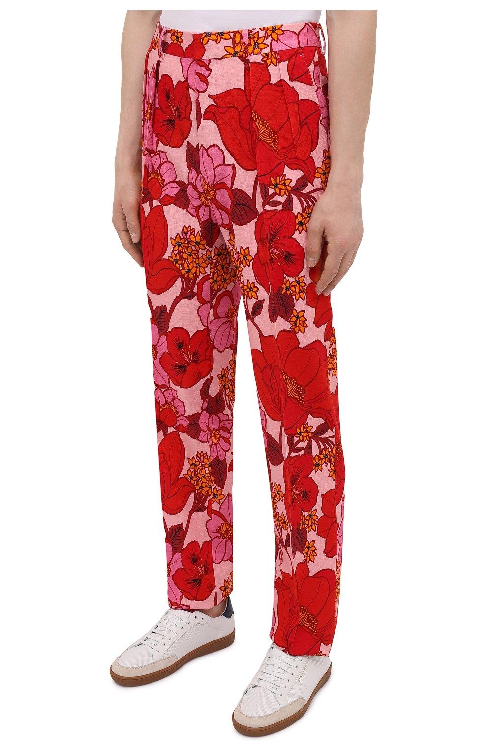 Мужские брюки из вискозы TOM FORD красного цвета, арт. 942R55/759F42 | Фото 3