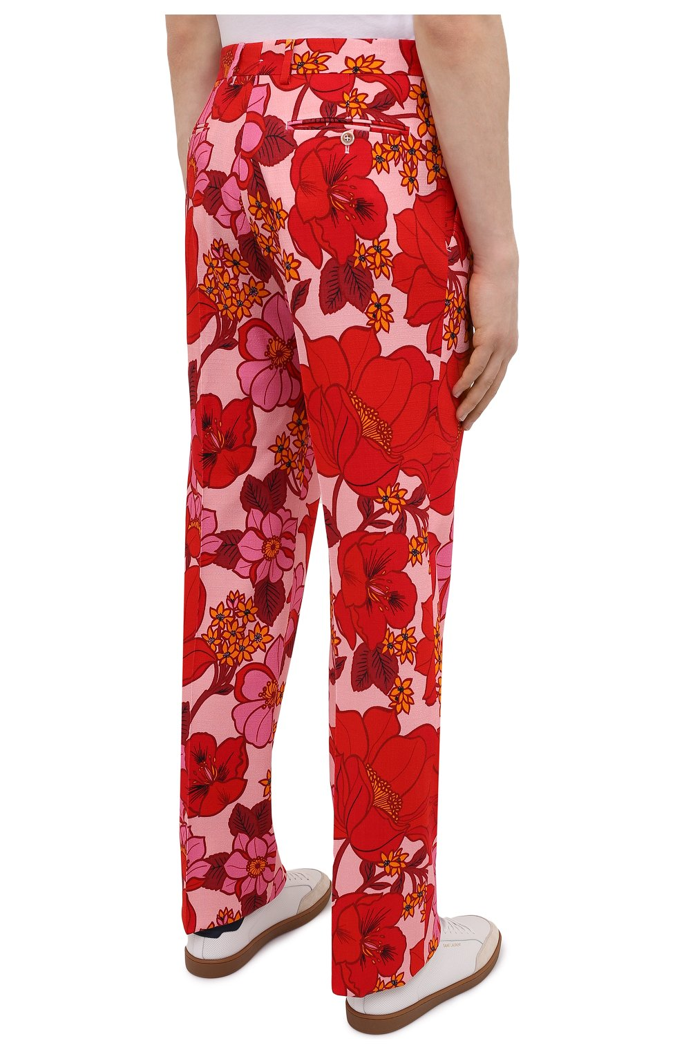 Мужские брюки из вискозы TOM FORD красного цвета, арт. 942R55/759F42 | Фото 4