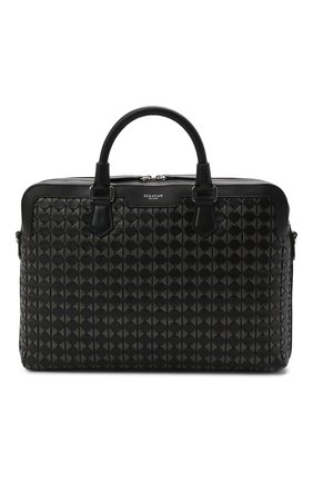 Мужская кожаная сумка для ноутбука mosaico SERAPIAN черного цвета, арт. SRM0SMLL712137A | Фото 1
