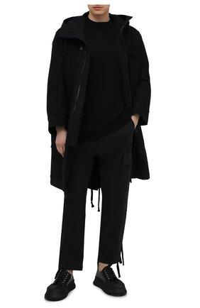 Мужской жилет из шерсти и хлопка RICK OWENS черного цвета, арт. RU21S6648/KGE0   Фото 2