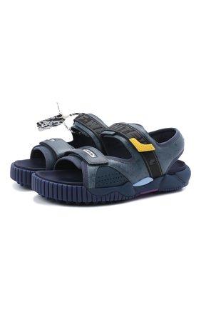 Мужские комбинированные сандалии odsy OFF-WHITE темно-синего цвета, арт. 0MIH001S21FAB0014518 | Фото 1