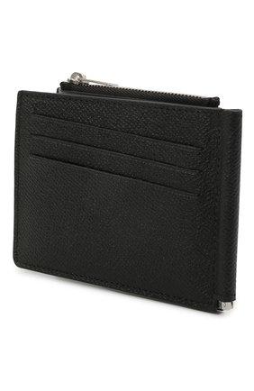 Мужской кожаный зажим для денег MAISON MARGIELA черного цвета, арт. S35UI0447/P0399 | Фото 2