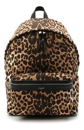 Мужской текстильный рюкзак city SAINT LAURENT леопардового цвета, арт. 534967/2QL5F | Фото 1