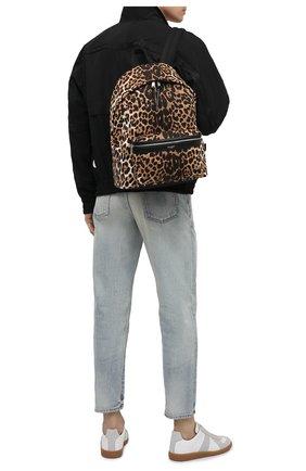 Мужской текстильный рюкзак city SAINT LAURENT леопардового цвета, арт. 534967/2QL5F | Фото 2