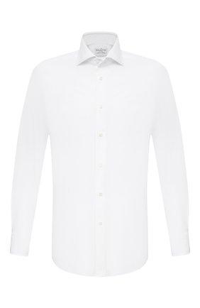 Мужская хлопковая сорочка BAGUTTA белого цвета, арт. 386_EBL/09672 | Фото 1