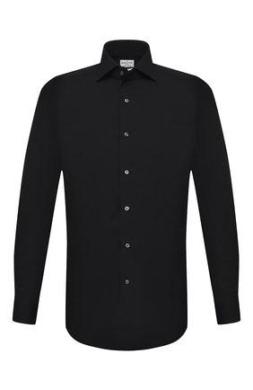Мужская хлопковая сорочка BAGUTTA черного цвета, арт. 386_EBL/09672 | Фото 1
