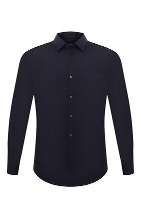Мужская хлопковая сорочка BOSS темно-синего цвета, арт. 50440261   Фото 1
