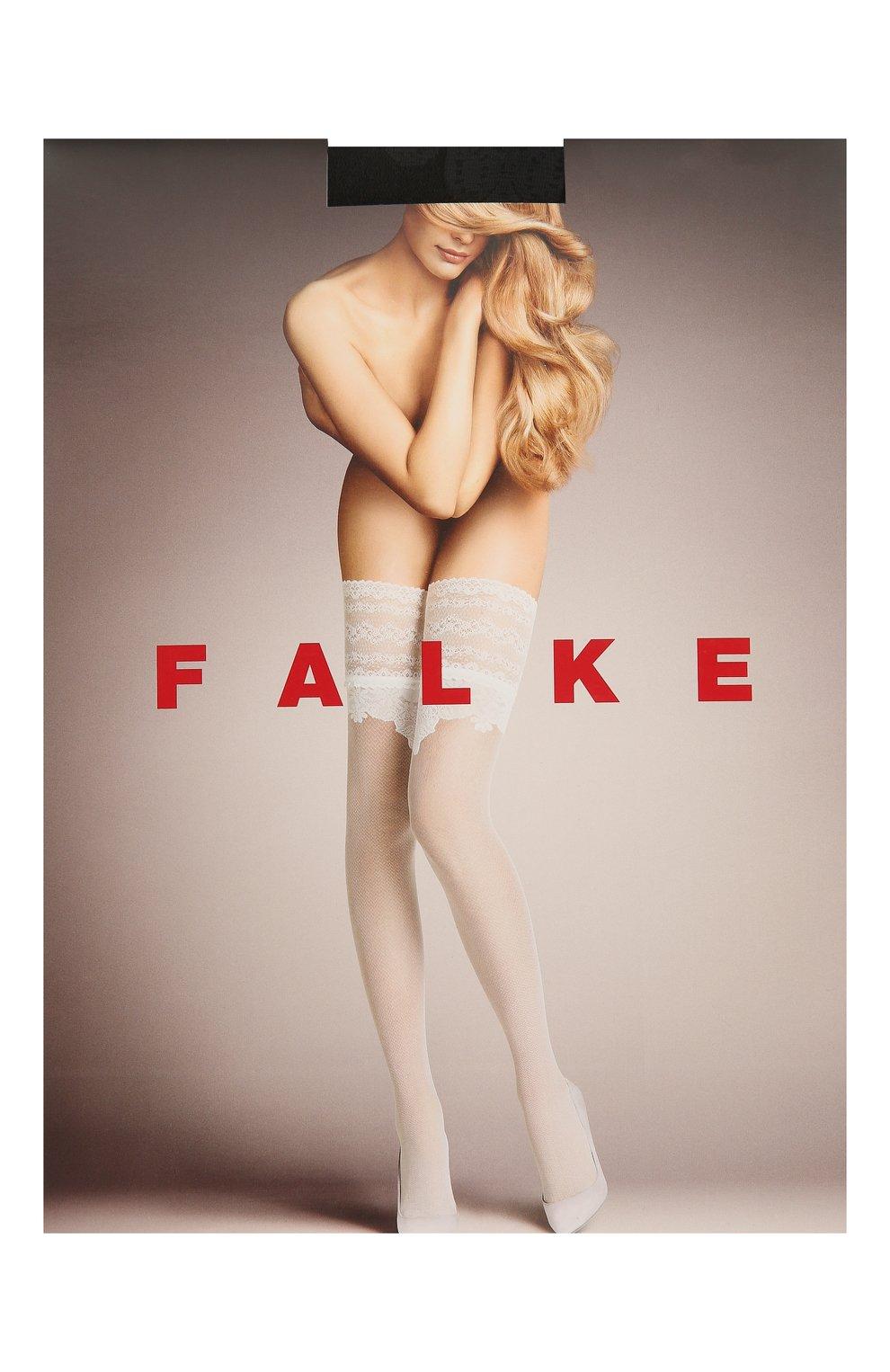 Женские капроновые чулки FALKE черного цвета, арт. 42014 | Фото 1
